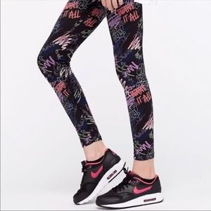 Nike Graffiti leggings just do it fold down band